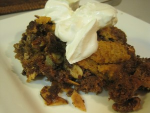 Pumpkin Crisp with Whipped Cream